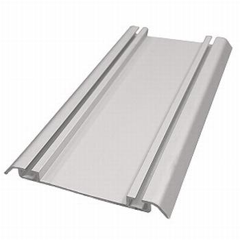 Onderrail aluminium mat zilver - 510cm<br />Per stuk