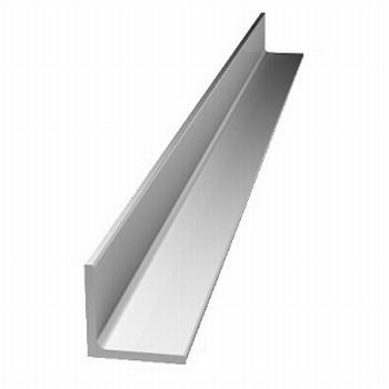 Afwerkprofiel deur aluminium mat zilver - 200cm<br />Per stuk