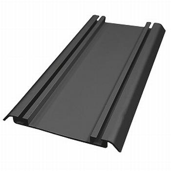 Onderrail zwart - 420cm<br />Per stuk