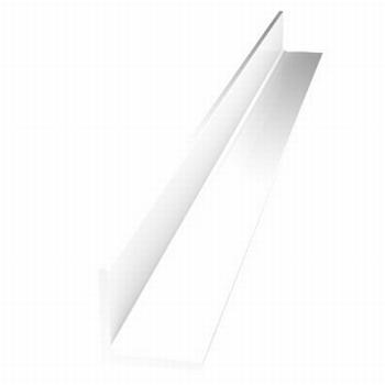 Afwerkprofiel deur aluminium wit- 200cm - RAL9010