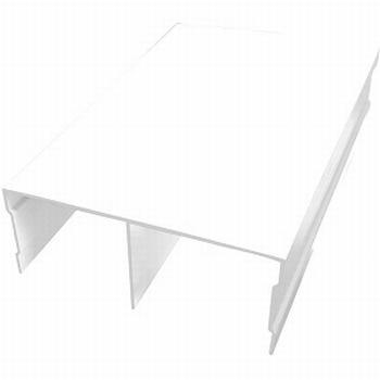 Bovenrail aluminium wit - 420cm - RAL9010