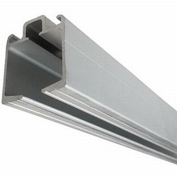 Bovenrail aluminium zilver - 400cm<br />Per stuk