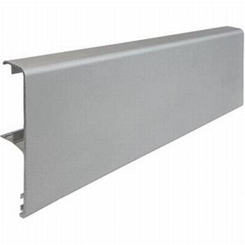 Afdeklijst aluminium zilver - 400cm<br />Per stuk