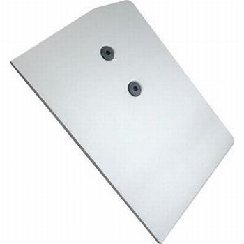 Afdekkap links aluminium - voor bovenrail<br />Per stuk
