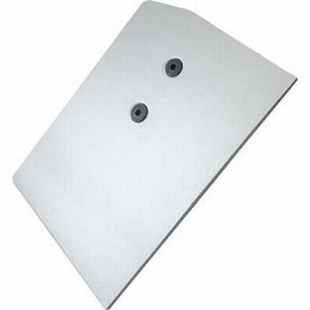 Afdekkap rechts aluminium - voor bovenrail