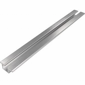 Rail voor boven en onder aluminium zilver - 200cm<br />Per stuk