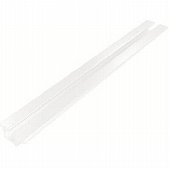 Rail voor boven en onder aluminium wit - 300cm<br />Per stuk