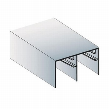 Bovenrail aluminium mat zilver - 510cm - J6