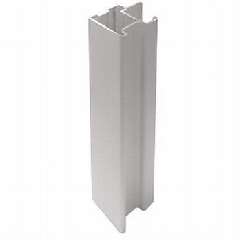 Greeplijst aluminium mat zilver - type C/10mm - 520cm<br />Per stuk