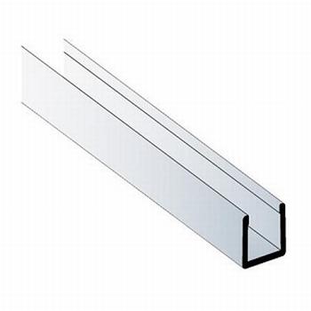 Deurprofiel laag aluminium mat zilver - 200cm<br />Per stuk