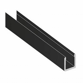 Deurprofiel laag zwart - 200cm<br />Per stuk