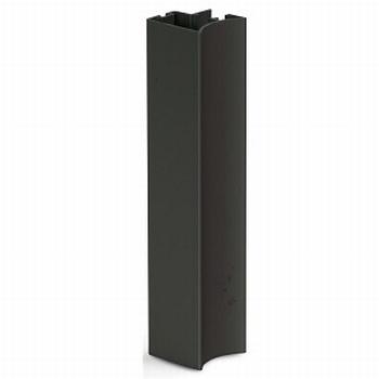 Greeplijst zwart - type A/10mm - 520cm<br />Per stuk