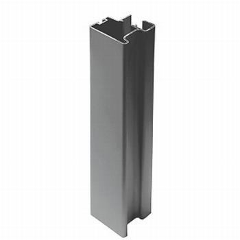 Greeplijst zwart - type C/10mm - 520cm<br />Per stuk