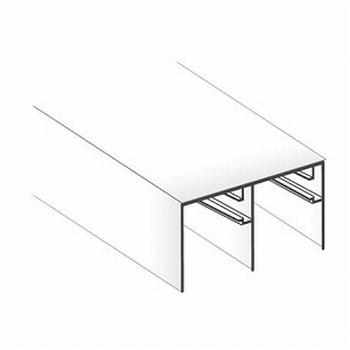 Bovenrail wit - 420cm<br />Per stuk