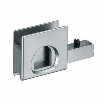 Glasschuifdeurbeslag slot adapter verchroomd <br />Per stuk