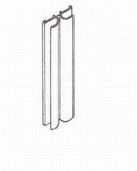 Glasschuifdeurbeslag kunststof aanslaglijst - 500cm<br />Per stuk