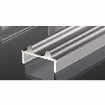 Glasschuifdeurbeslag onderrail voor frame - 500cm<br />Per stuk