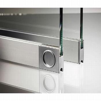 Glasschuifdeurbeslag deurprofiel - 500cm<br />Per stuk
