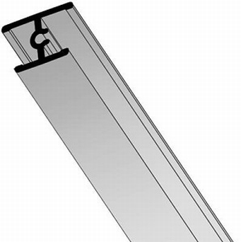 Dwarsprofiel aluminium mat zilver - 200cm<br />Per stuk