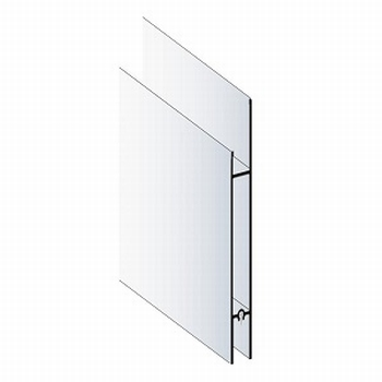 Deurprofiel hoog aluminium mat zilver - 200cm<br />Per stuk
