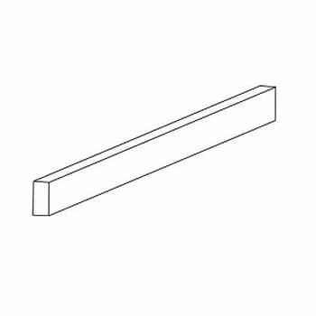 Glasprofiel transparant voor 4-6mm glaspanelen - 100cm<br />Per stuk