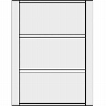 Dwarsprofiel montageset voor 2 deuren / 3delen<br />Per set