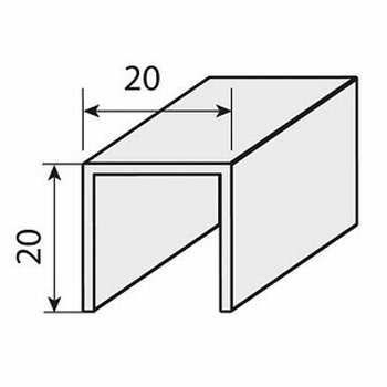 Rail voor schuine deuren - 145cm - aluminium<br />Per stuk