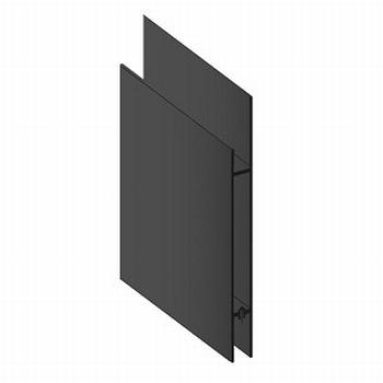 Deurprofiel hoog zwart - 200cm<br />Per stuk