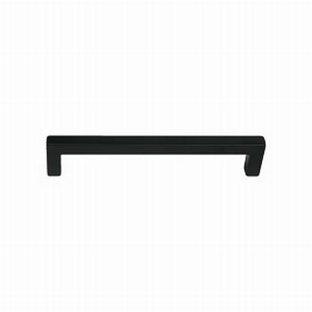 Meubelgreep vierkant mat zwart - L 137mm - H 28mm - D 9mm<br />Per stuk