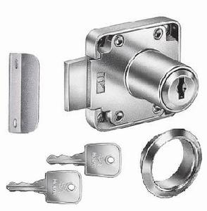 Oplegcilinderslot voor lades - gelijksluitend sleutelnr 1505<br />Per stuk