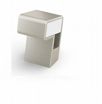 Sarus - Edelstaal finish geborsteld /acryl mat wit<br />Per stuk