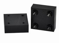 Massief kunststof tafelverhoger 78x78x20mm - zwart<br />per stuk