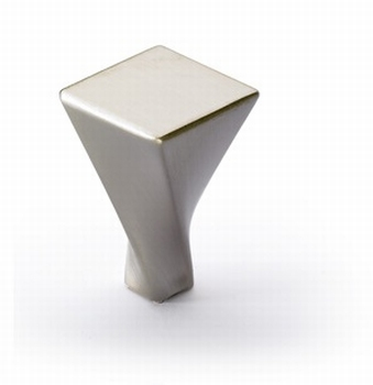 Knop Crosia - Edelstaal finish geborsteld - Breedte 22 mm<br />Per stuk