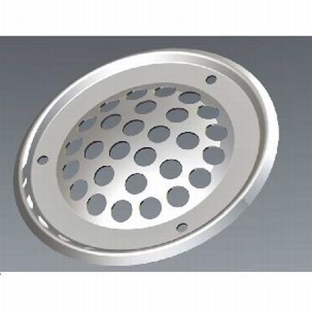 RVS ventilatierozet buitenmaat: 60 mm<br />Per stuk