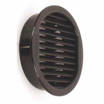 Klemrooster universeel 50/43mm - zwart - gatmaat 43mm<br />Per stuk