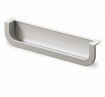 Greep Athena - Aluminiumkleurig - Lengte 170 mm<br />Per stuk