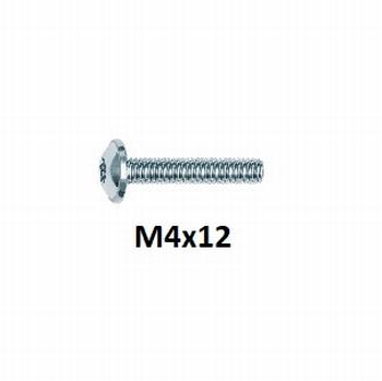 Boutje M4x12mm voor het vatzetten van de lade<br />Per stuk