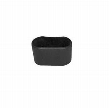 Omsteekdop ovaal voor buis 38x20mm - zwart<br />Per stuk