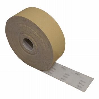 Schuurpapier op foam 115 mm rol 5meter - P120<br />per rol 5meter