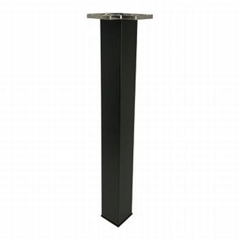 Tafelpoot 60x60mm - mat zwart - hoogte 710/740mm<br />Per stuk