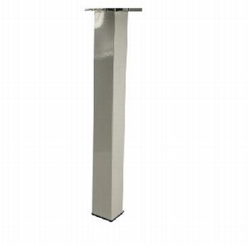 Tafelpoot 60x60mm - wit - hoogte 710/740mm - RAL9003<br />Per stuk