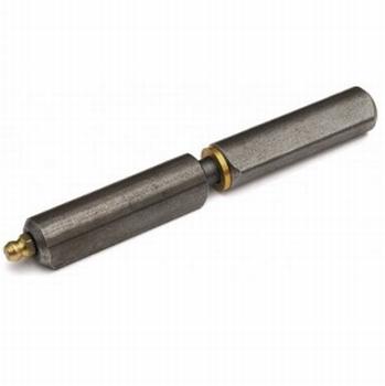 Aanlaspaumelle Blank staal met smeernippel - 140x16mm