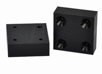 Massief kunststof tafelverhoger 118x118x20mm - zwart<br />per stuk
