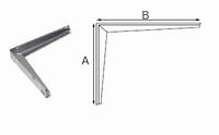 Industriedrager 550x300mm vuurverzinkt<br />per stuk