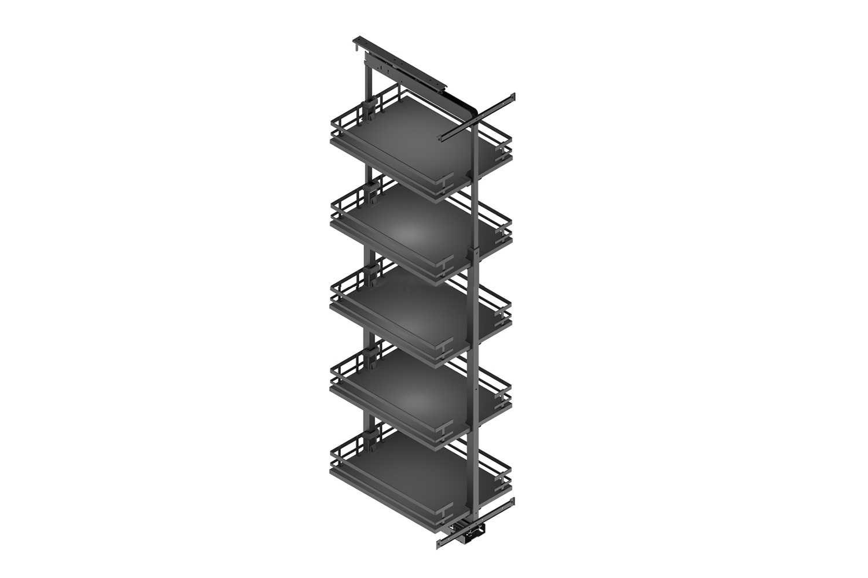 Apothekerskast - h: 160-200cm b: 30-35cm - 5 plateaus