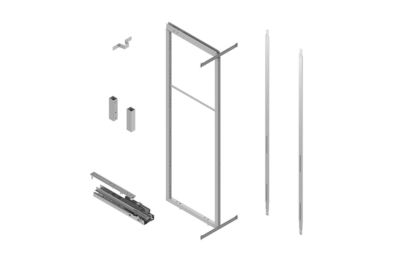 Apothekerskast - h: 190-230cm b: 40cm - zonder manden