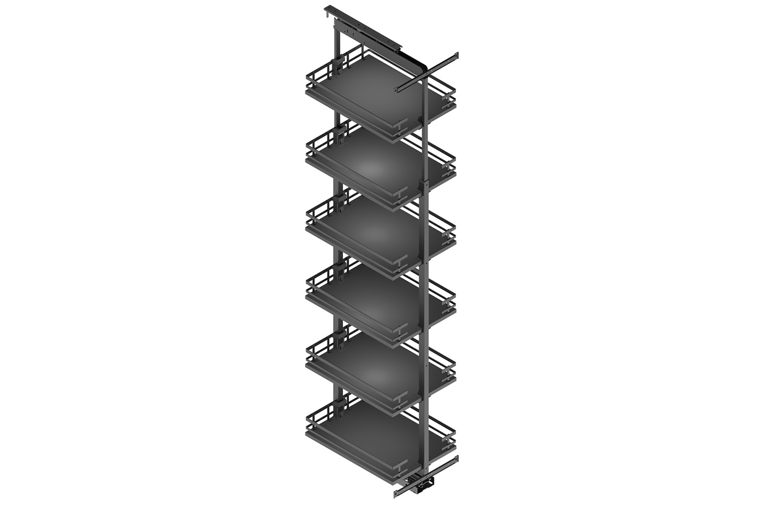 Apothekerskast - h: 190-230cm b: 50cm - 6 plateaus