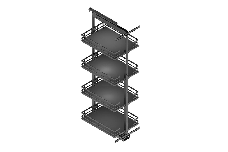 Apothekerskast - h: 120-160cm b: 60cm - 4 plateaus