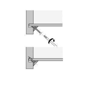Achterwandverbinder RV 8