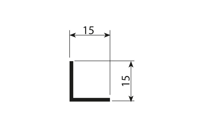 Afwerkprofiel aluminium mat zwart - 200cm - J6
